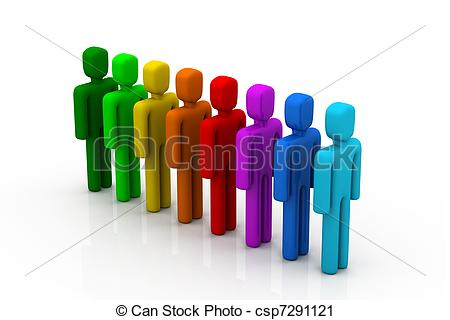Row of people clipart
