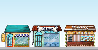 Row of shops clipart vector free Cartoon Street Shops Stock Photos, Images, & Pictures - 256 Images vector free