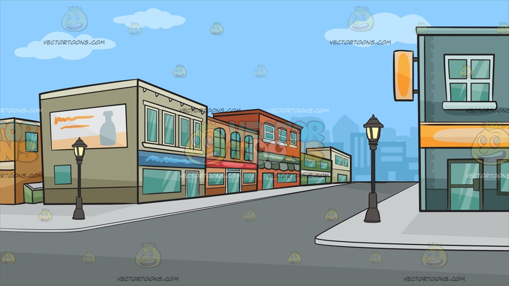 Row of shops clipart png freeuse library A Row Of Suburban Shops Background Cartoon Clipart png freeuse library