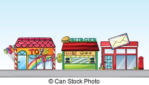 Row of shops clipart clip art library Clipart stores - ClipartFest clip art library