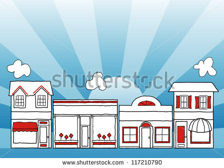 Row of shops clipart svg free download Mom And Pop Store Stock Photos, Royalty-Free Images & Vectors ... svg free download
