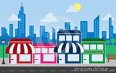 Row of shops clipart jpg library stock Row of shops clipart - ClipartFest jpg library stock