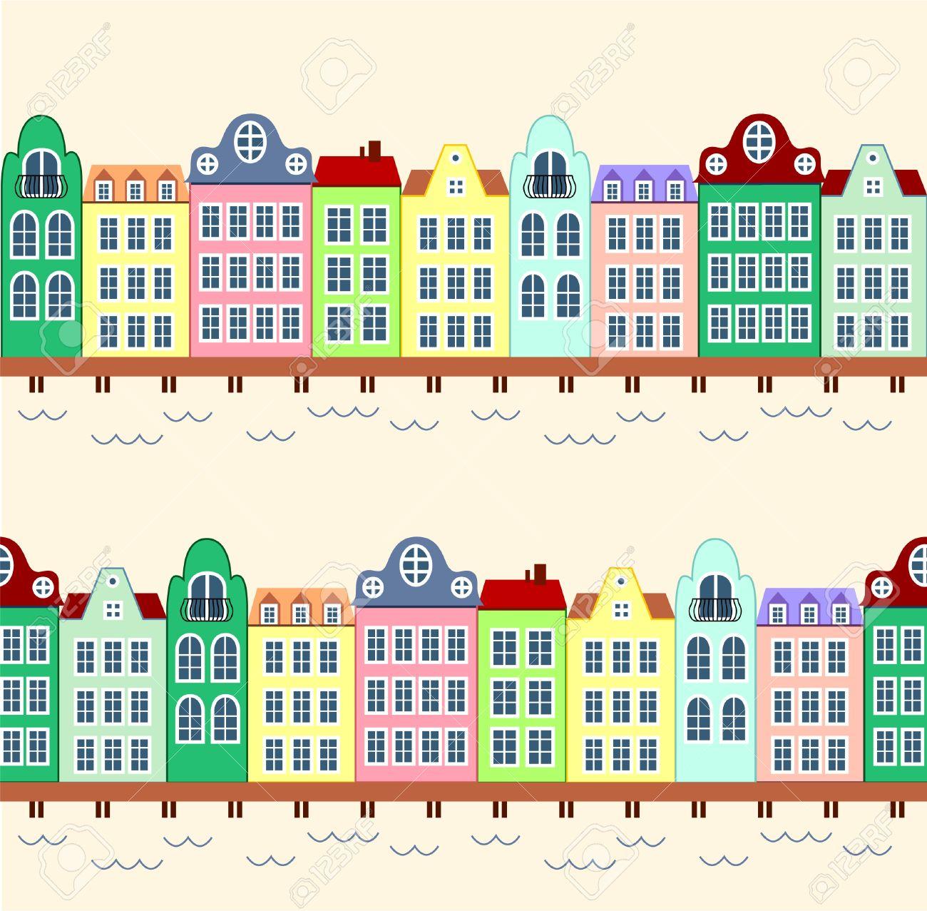 Row of shops clipart vector library Row house clipart - ClipartFest vector library