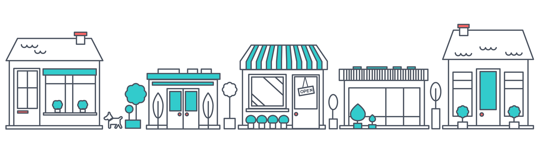 Row of shops clipart clip black and white download Kit - Using Shopify - Shopify Help Center clip black and white download