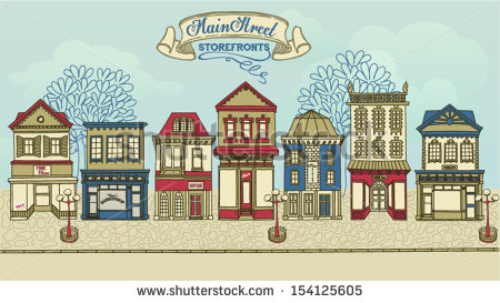Row of shops clipart graphic free download Main Street Stock Images, Royalty-Free Images & Vectors | Shutterstock graphic free download