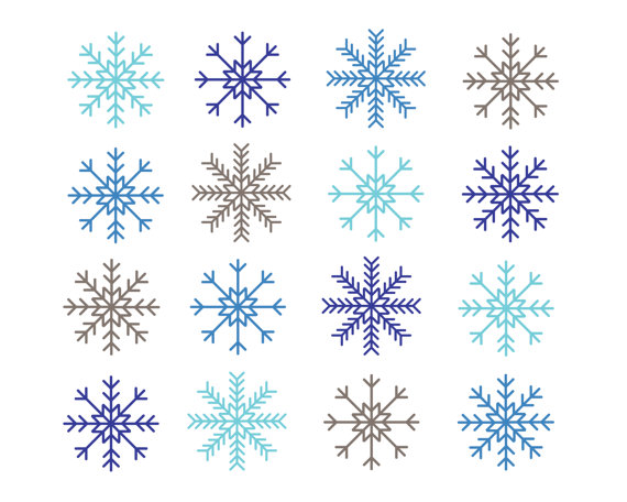 Row of snowflakes clipart clip black and white stock Free snowflake clipart clip art images 4 - ClipartPost clip black and white stock