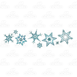 Row of snowflakes clipart svg library library Row of Eight Snowflakes svg library library