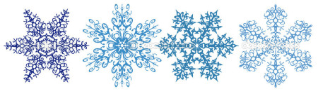 Row of snowflakes clipart clipart royalty free Snowflakes clipart strip - Karademas Management clipart royalty free