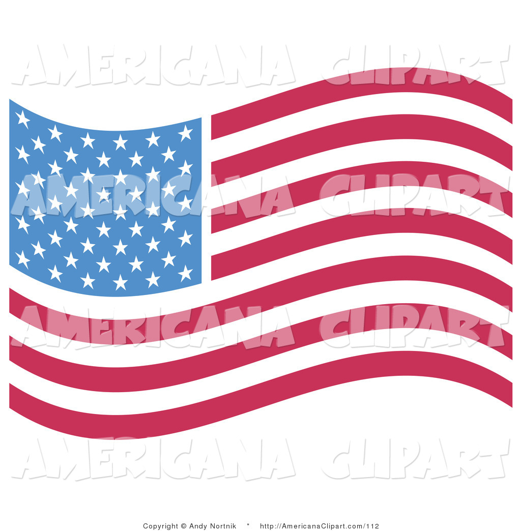 Row of stars clipart red white and blue clip art freeuse library Americana Vector Clip Art of an American Flag with White ... clip art freeuse library