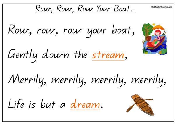 Row row row your boat clipart svg black and white stock Row Row Row Your Boat svg black and white stock