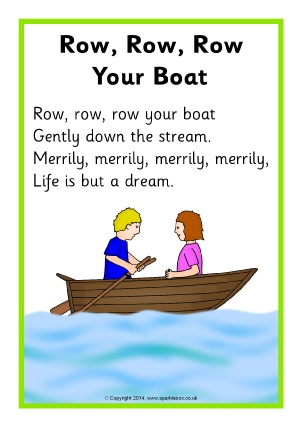 Row row row your boat clipart image freeuse download Nursery Rhyme Songs Teaching Resources & Printables - SparkleBox image freeuse download