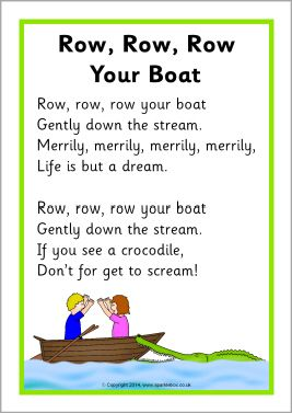Row row row your boat clipart clip freeuse stock Row, Row, Row Your Boat song sheet (SB10945) - SparkleBox ... clip freeuse stock