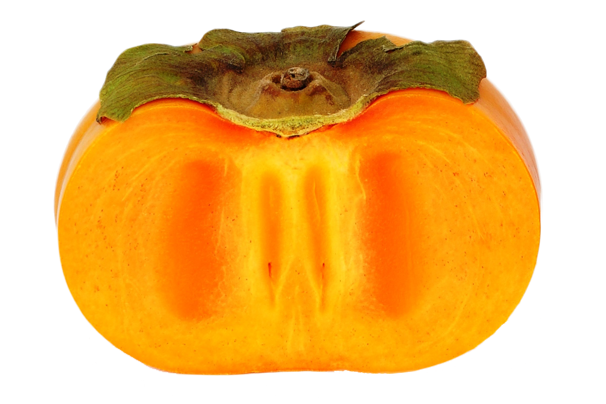 Persimmon cutted PNG image image download