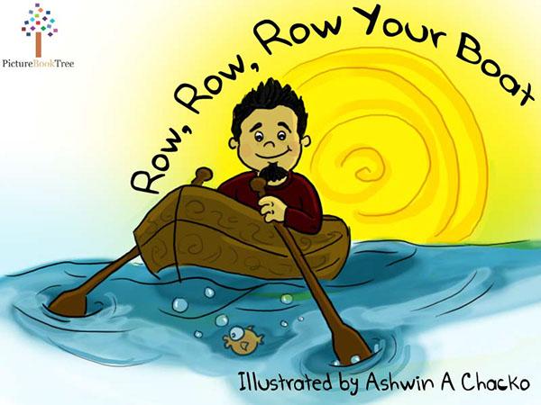 Row your boat clipart clip free stock Row Row Row Your Boat on Behance clip free stock