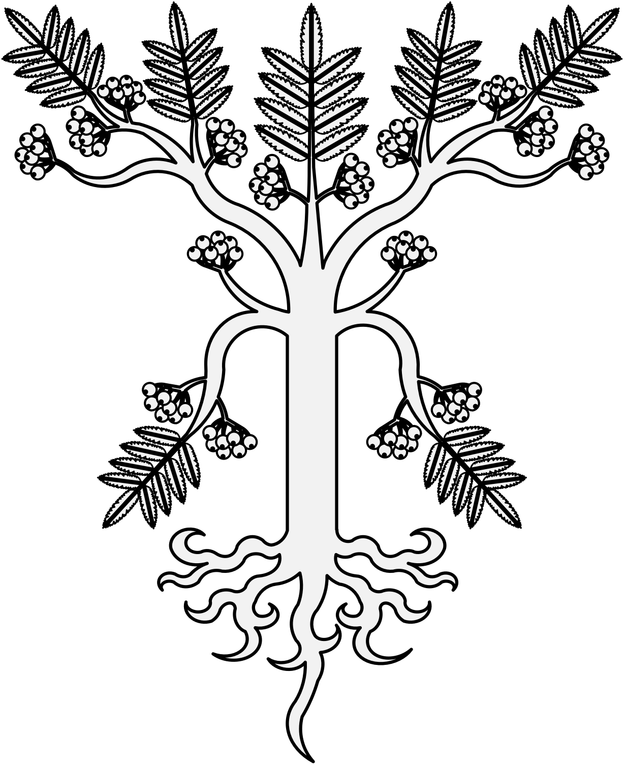 Rowan Tree Drawing at GetDrawings.com | Free for personal use Rowan ... graphic freeuse stock