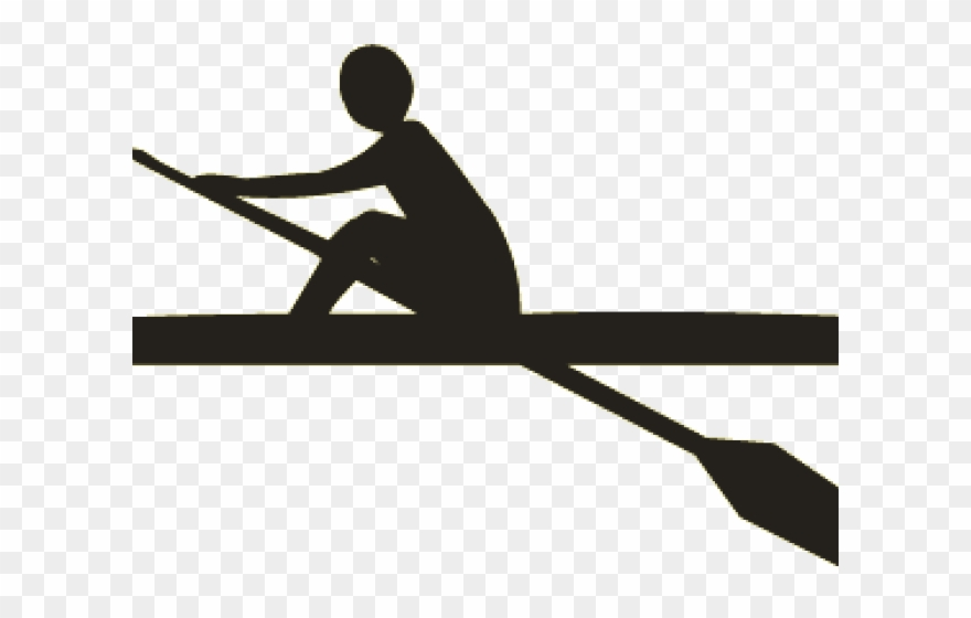Rowing shell clipart
