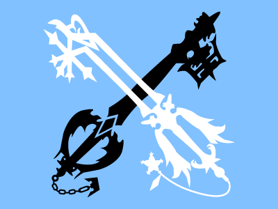 Roxas keyblade crossing clipart jpg black and white library Oathkeeper And Oblivion by Arzola on Dribbble jpg black and white library
