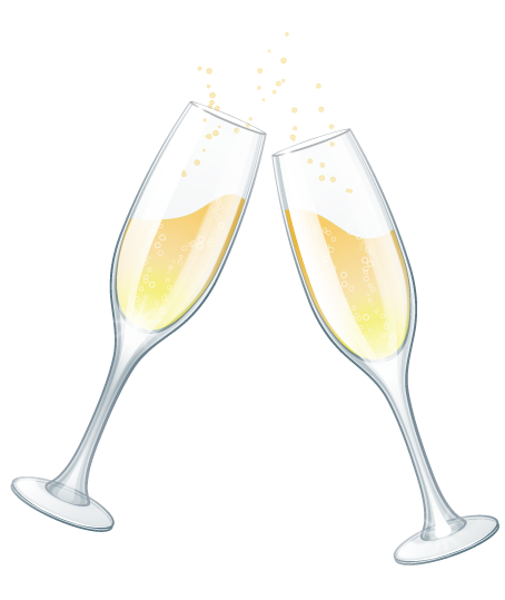 Royal blue and silver champagne glasses clipart png free Free Wedding Clip Art png free