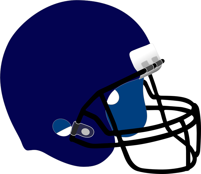 Royal blue facemask outline front football clipart jpg transparent library Blue Football Helmet Clipart | Free download best Blue ... jpg transparent library