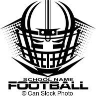 Royal blue facemask outline front football clipart vector black and white download football helmet with facemask - tribal football team design ... vector black and white download
