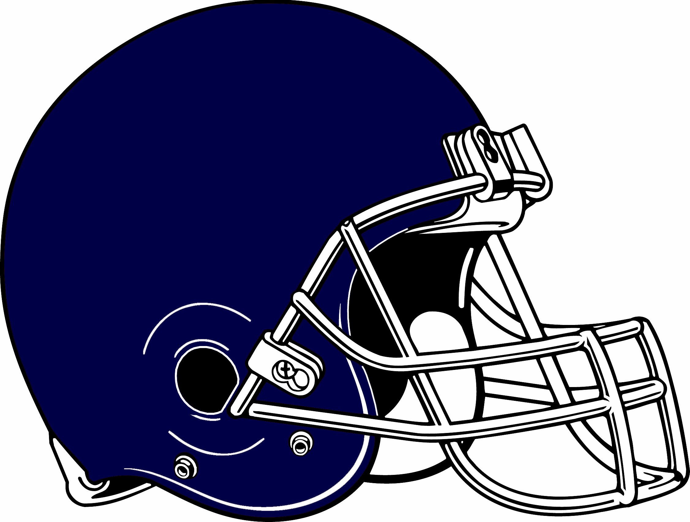 Royal blue facemask outline front football clipart svg free library Blue Football Helmets | Free download best Blue Football ... svg free library
