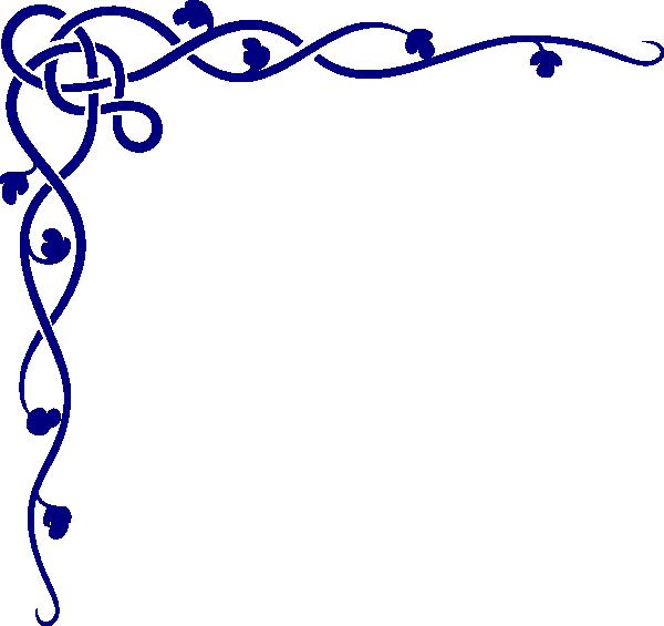 Royal Blue Celtic Corner Clip Art at Clker.com - vector clip art ... png free library