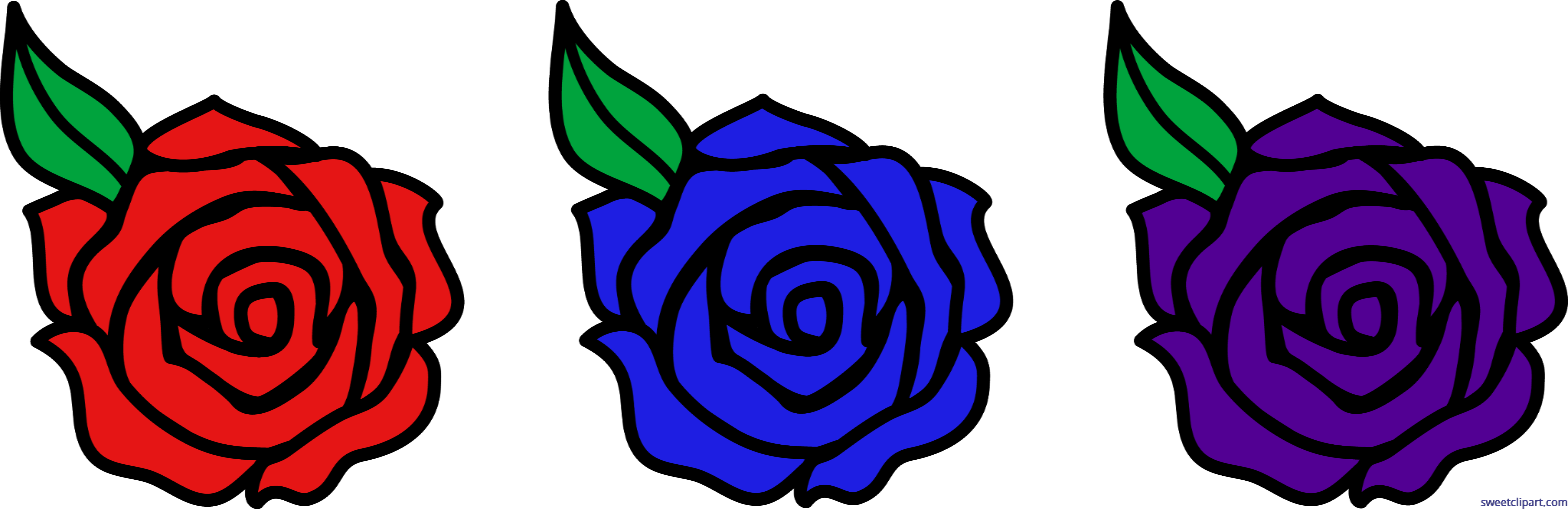 Blue Rose Clipart Blue Violet Free collection | Download and share ... png black and white download