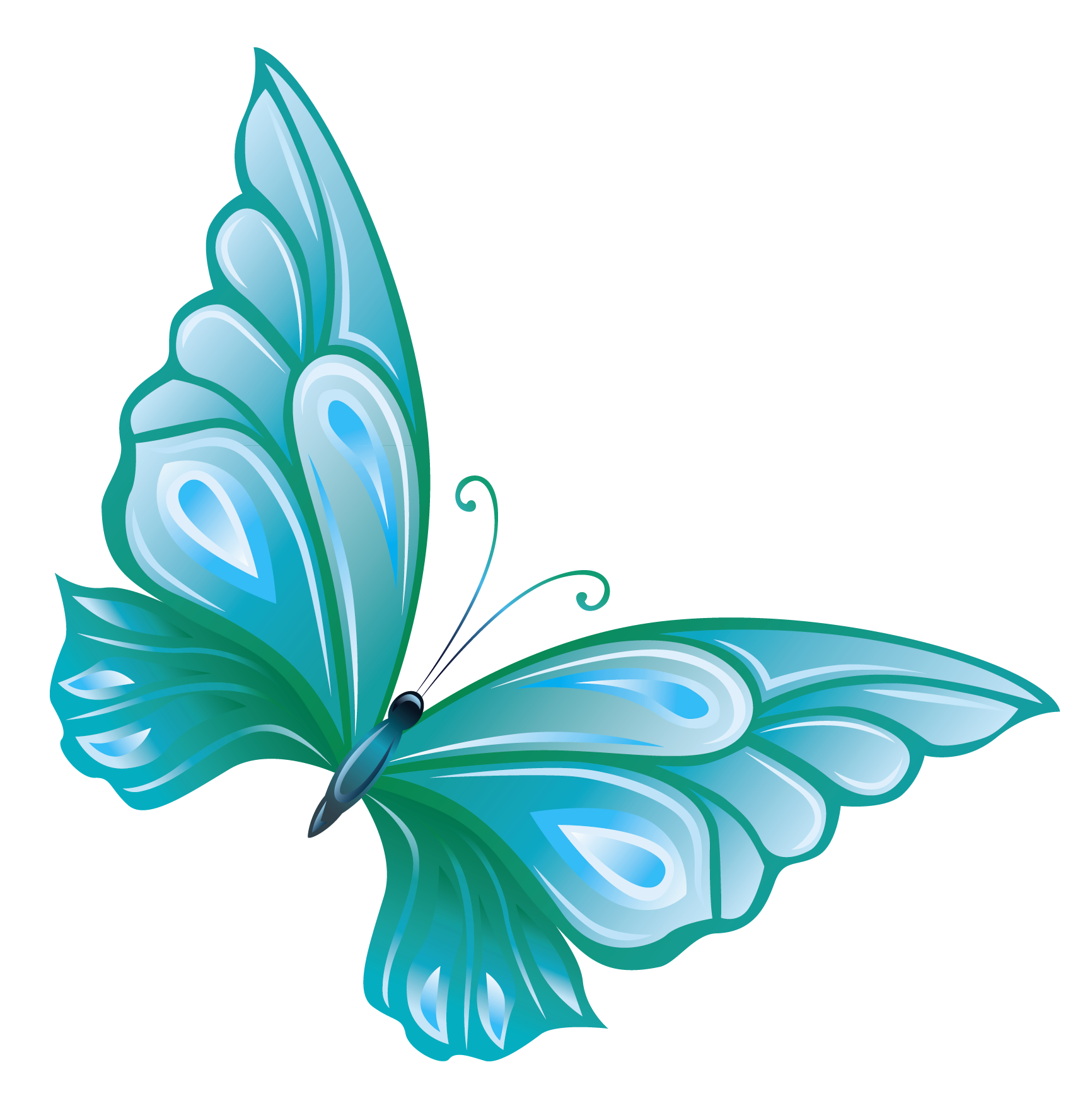 Royal blue heart clipart graphic transparent library Light Blue Butterfly Clipart | Clipart Panda - Free Clipart Images ... graphic transparent library