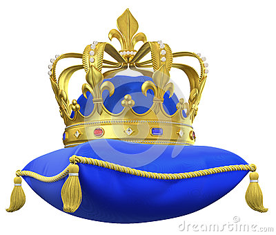 Royal blue king crown and sceptor clipart vector stock The Royal Pillow With Crown Stock Illustration - Image: 67334381 vector stock