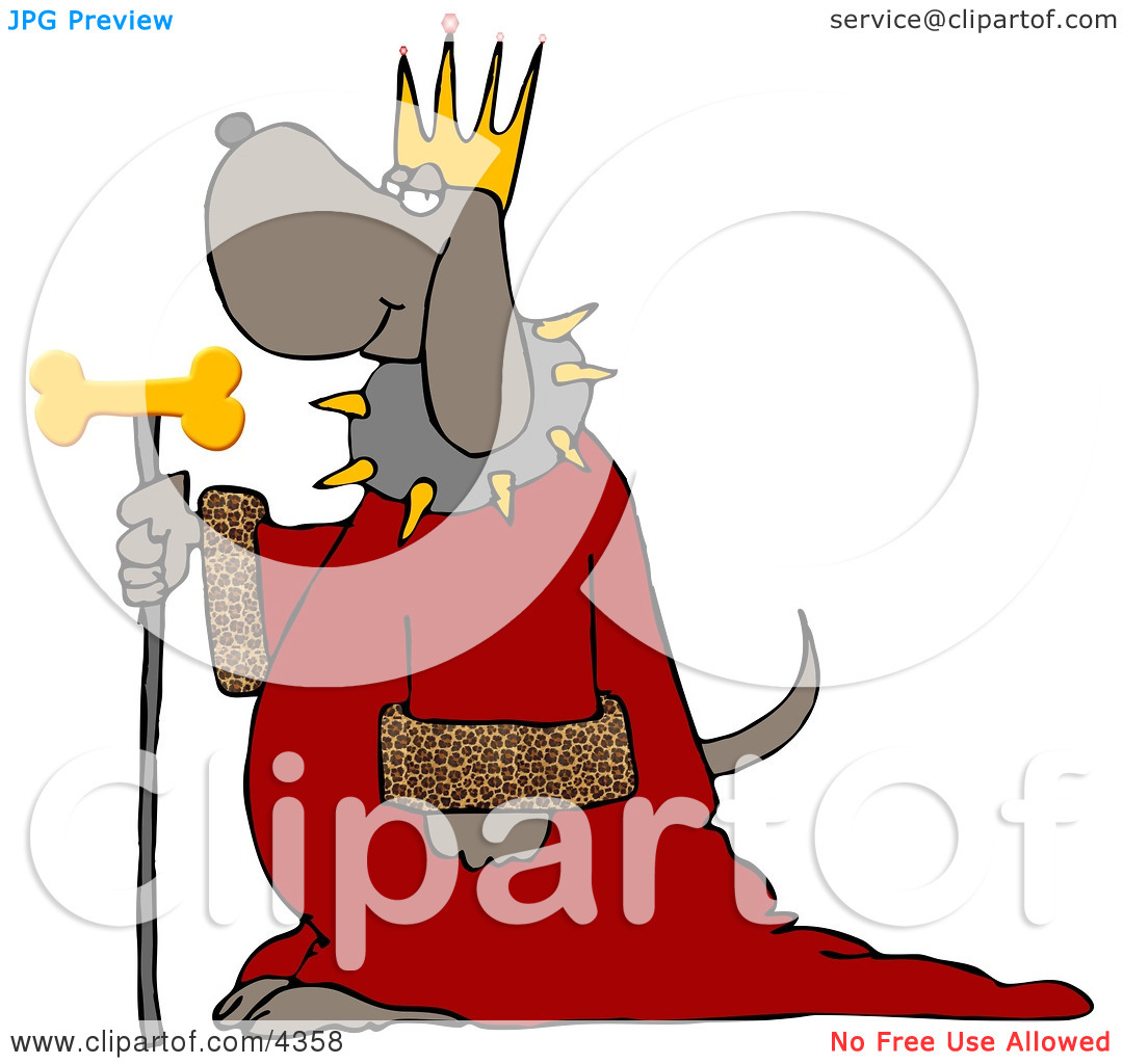 Royal blue king crown and sceptor clipart image freeuse stock Dog Wearing King's Crown, Royal Red Robe, and Holding a Gold Milk ... image freeuse stock