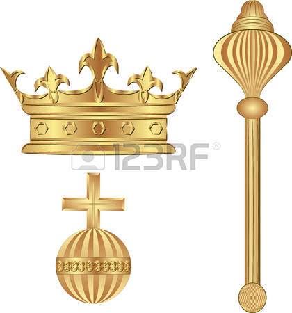 Royal blue king crown and sceptor clipart jpg library download 1,324 Scepter Stock Vector Illustration And Royalty Free Scepter ... jpg library download