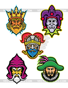 Royal court clipart picture free download Medieval Royal Court Mascot Collection - vector clipart picture free download