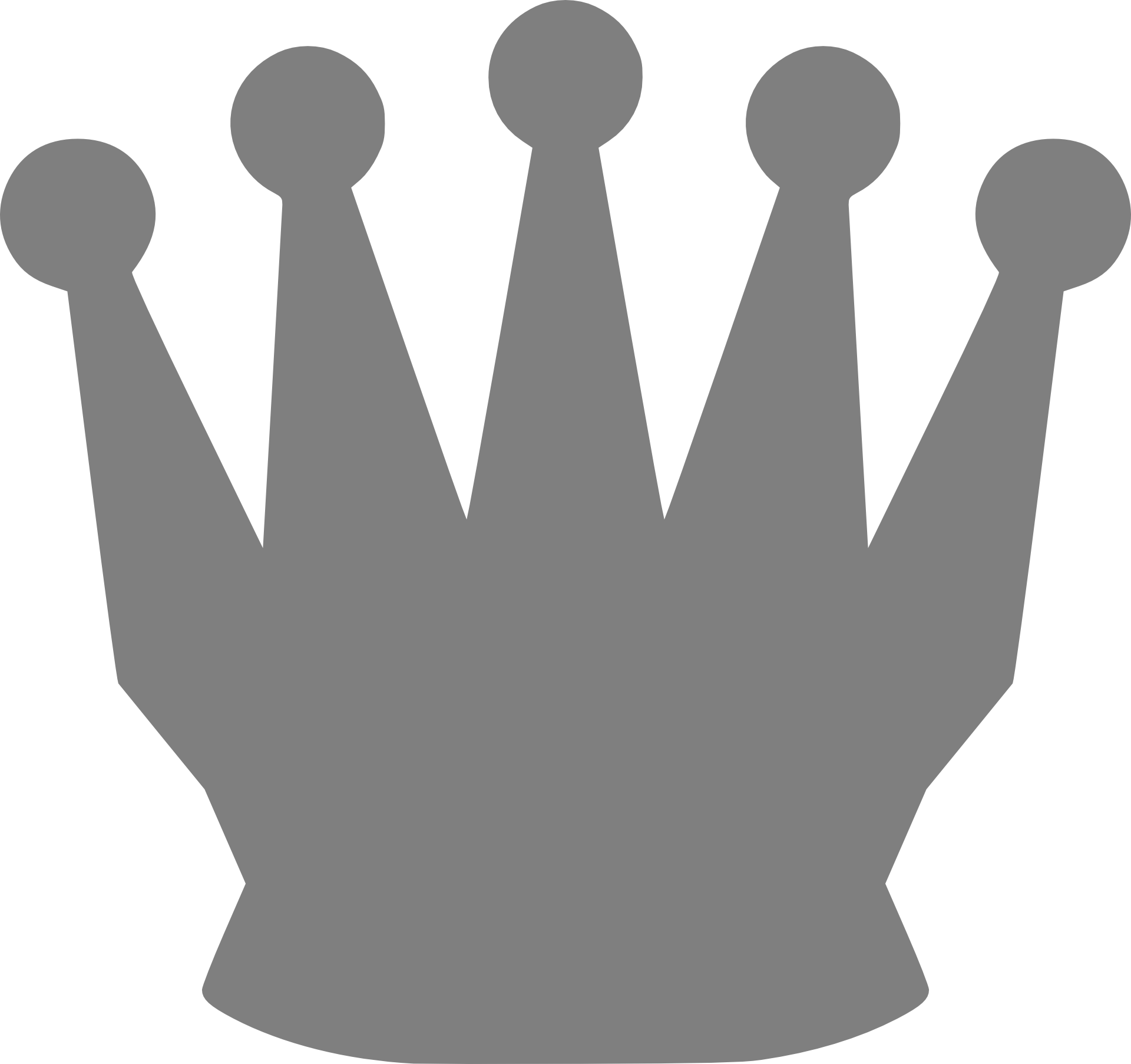 Royal crown clipart black and white jpg free Drawing of royal crown with edges free image jpg free