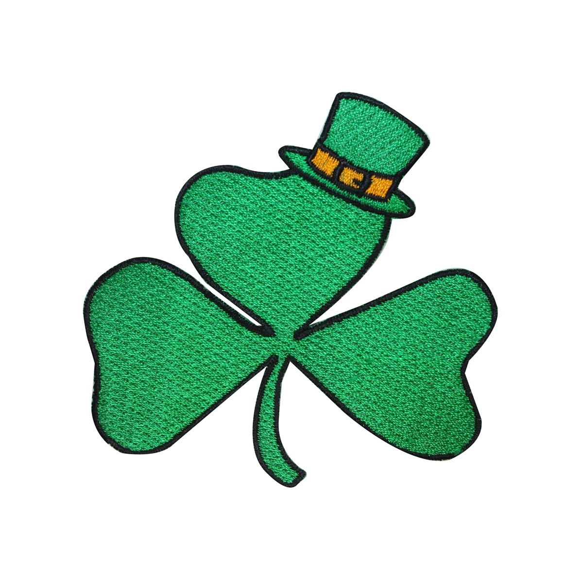 Royal flush clovers clipart picture transparent library ID 3301 Three Leaf Clover Patch ST Patrick\'s Day Embroidered Iron On  Applique picture transparent library