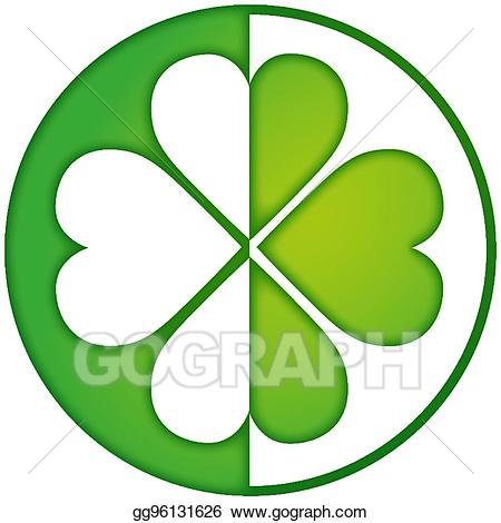 Royal flush clovers clipart picture black and white Vector Art - Green-lucky-logo.eps. EPS clipart gg96131626 ... picture black and white