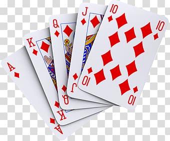 Royal flush diamonds clipart svg royalty free stock Royal Flush diamonds, Red Diamonds Cards transparent ... svg royalty free stock