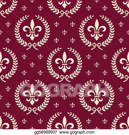 Royal pattern clipart graphic transparent library Vector Art - Red royal seamless textile pattern. Clipart ... graphic transparent library