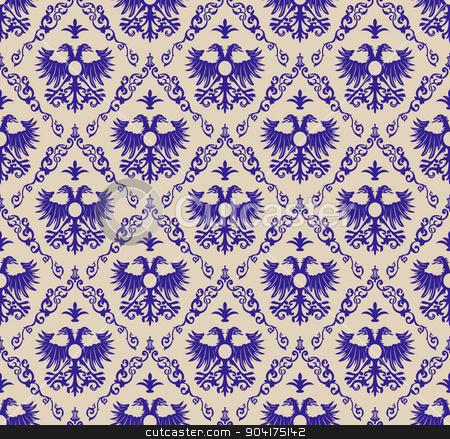 Royal pattern clipart jpg freeuse seamless vintage background blue royal eagle Pattern stock ... jpg freeuse