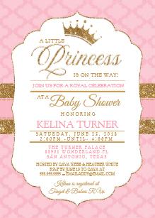 Royal princess baby shower invitation clipart template clipart Princess Baby Shower Invitations | Zazzle clipart