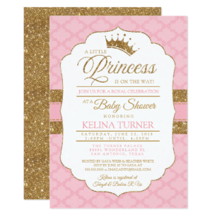 Royal princess baby shower invitation clipart template image free library Royal Little Princess Pink Baby Shower Invitation image free library
