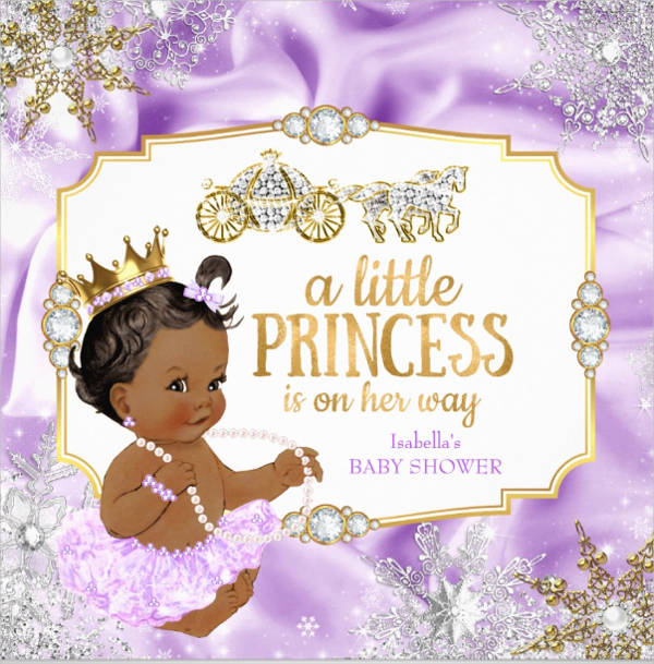 Royal princess baby shower invitation clipart template vector royalty free stock 53+ Baby Shower Invitations Designs - PSD, AI, Word, EPS ... vector royalty free stock