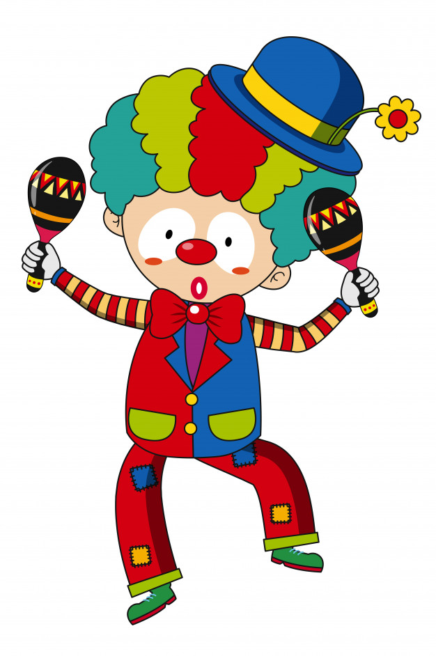 Royalmonster clipart vector transparent library Happy clown with maracas Vector | Free Download vector transparent library