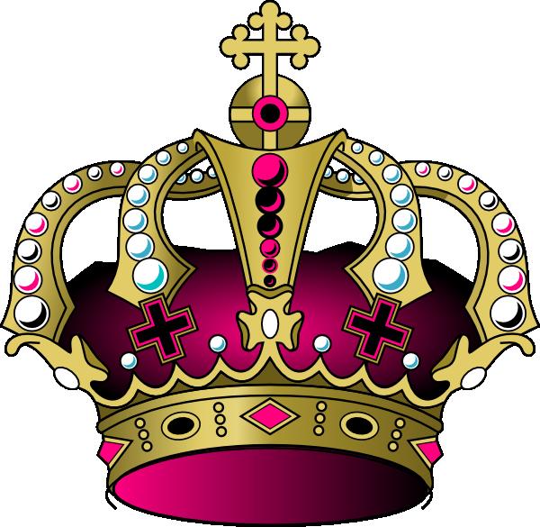 Royalt clipart jpg download Pink Crown Clip Art at Clker.com - vector clip art online ... jpg download