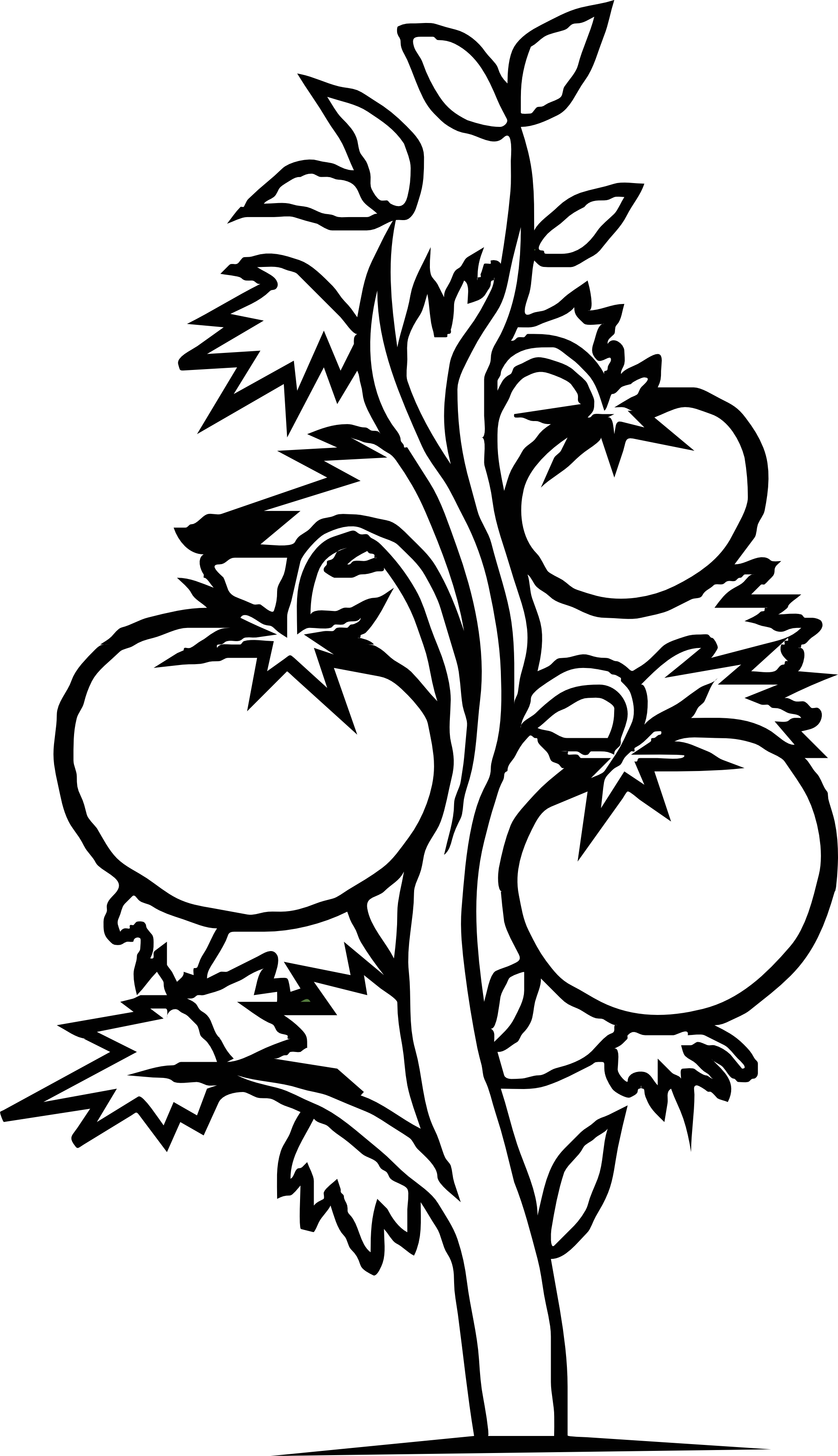 Parts of a tree clipart black and white svg library stock Free Black And White Plant, Download Free Clip Art, Free ... svg library stock