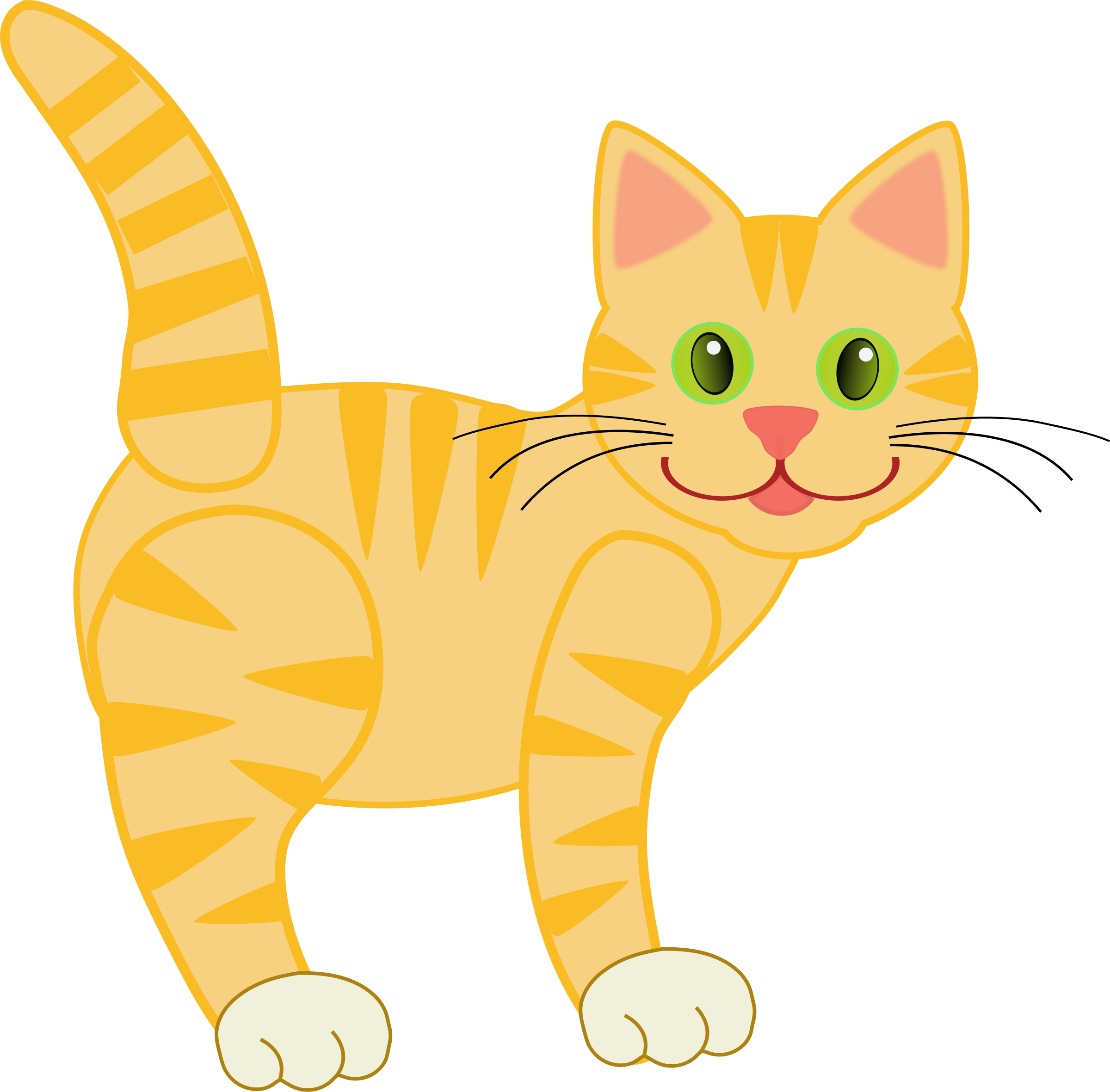Royalty free cat clipart banner freeuse 28+ Collection of Yellow Cat Clipart   High quality, free cliparts ... banner freeuse