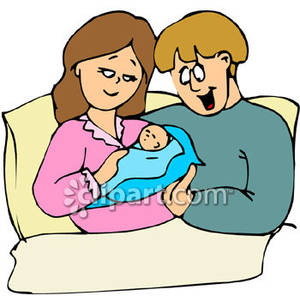 Royalty free clipart mother talking to baby svg royalty free stock New Mom and Dad Holding Their Newborn Baby Royalty Free ... svg royalty free stock