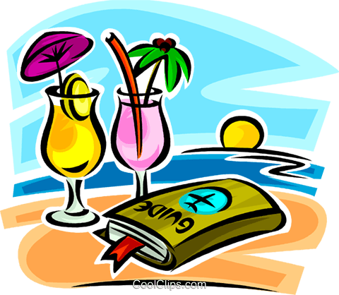 Royalty free clipart no watermark clip library Travel Guide And Cocktails On The Beach Royalty Free Vector ... clip library
