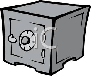 Royalty free clipart safe image transparent library Carrtoon of a Combination Lock Safe - Royalty Free Clipart ... image transparent library