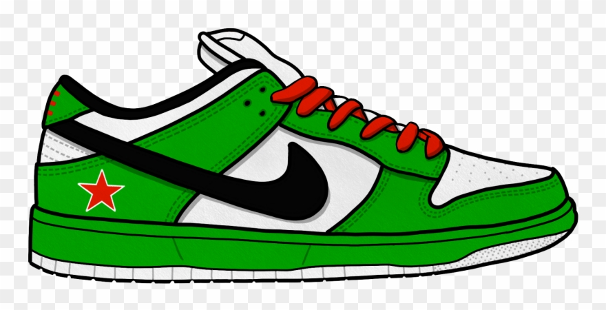 Royalty free clipart shoes banner black and white Royalty Free Stock Collection Of Nike - Nike Shoe Clipart ... banner black and white