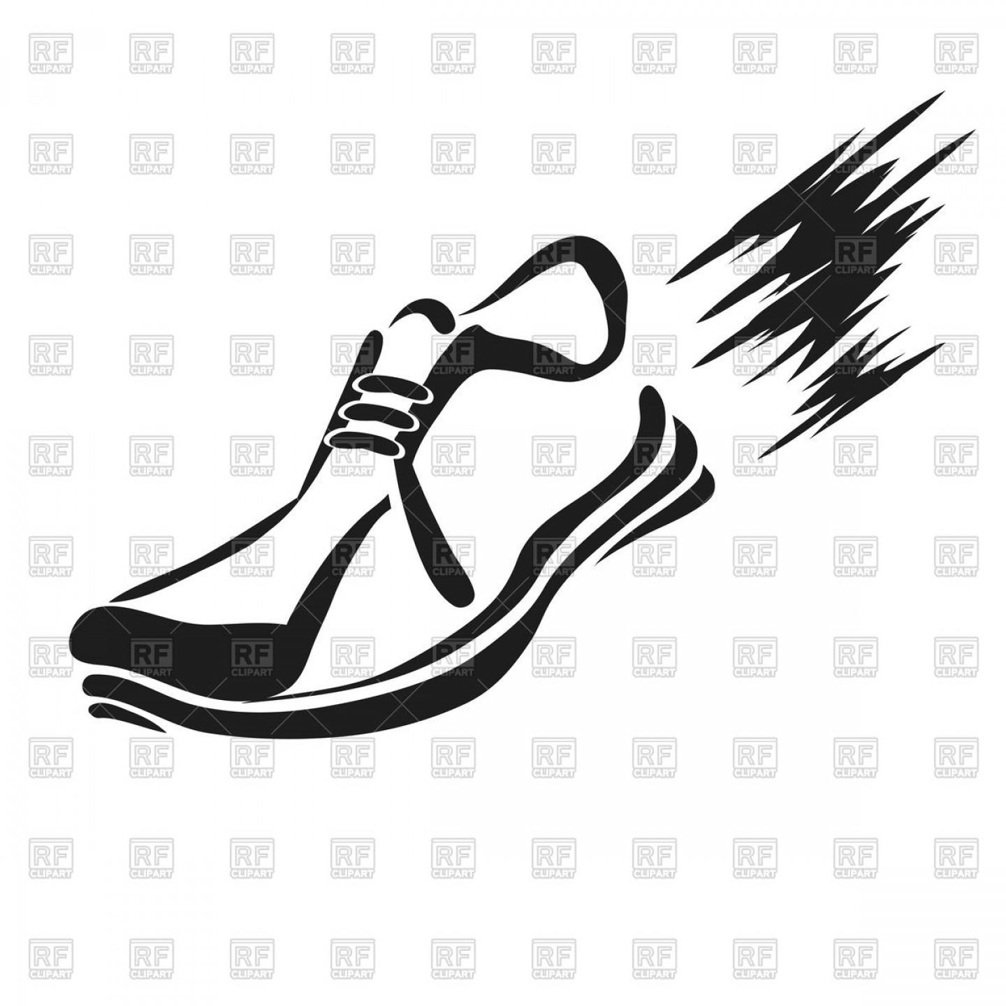 Royalty free clipart shoes graphic download Best Free Running Shoe Silhouette Vector Library ~ Vector ... graphic download
